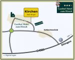 Directions to the Gasthof Hotel Hirsch Kirchen